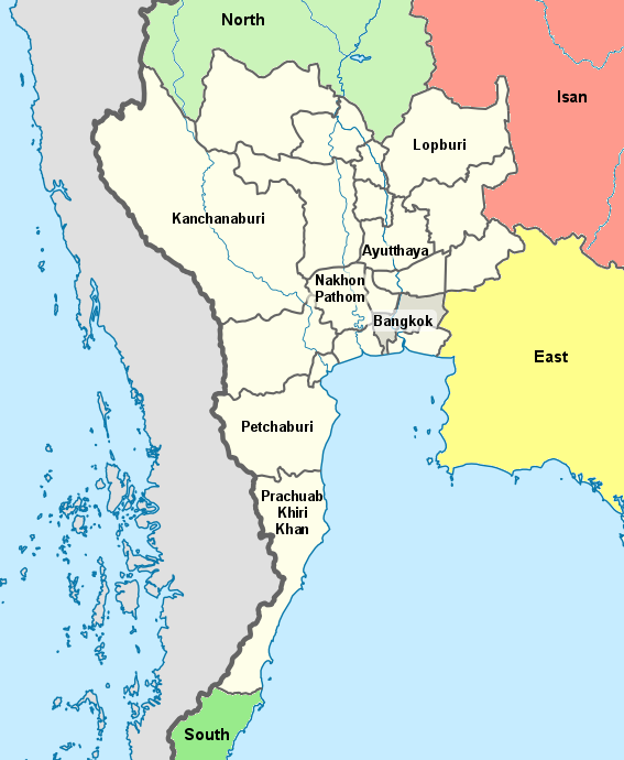 Kanchanaburi Thailand Map.Central Thailand Thailand For Visitors