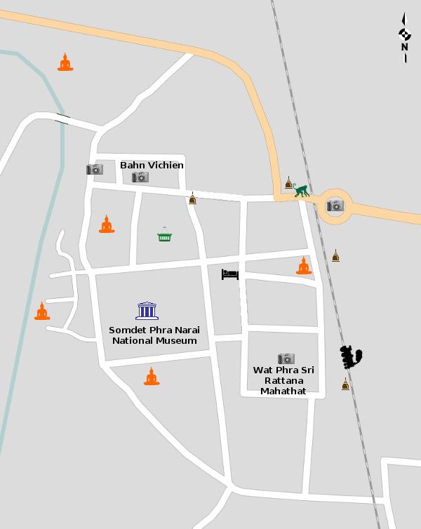 Lopburi Thailand Map.Lopburi Map Orientation Thailand For Visitors