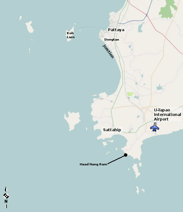 Utapao Afb Thailand Map.Pattaya Travel Guide Thailand For Visitors