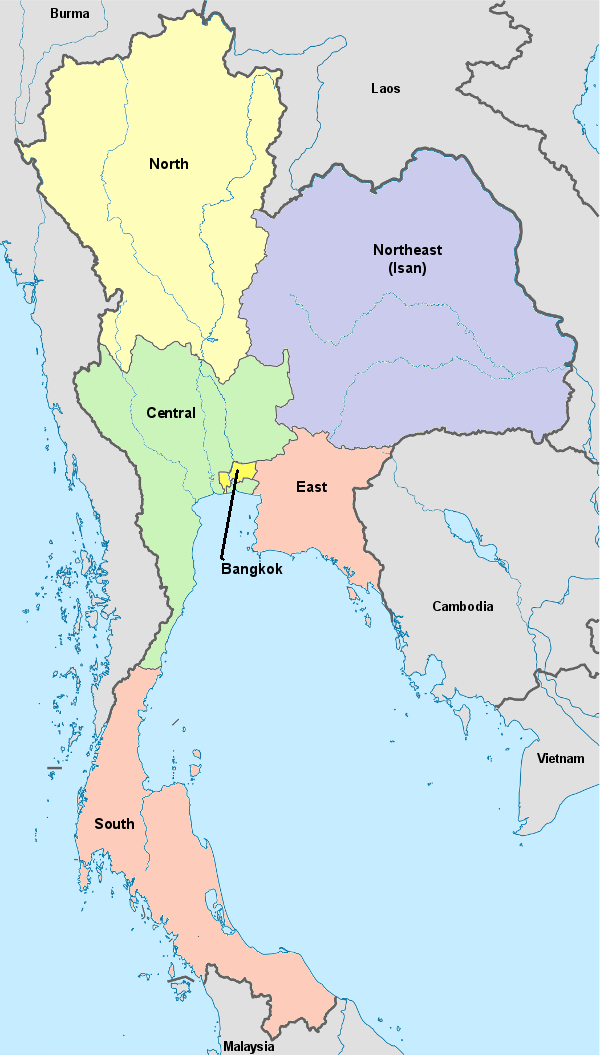 Thailands Regions  Thailand For Visitors
