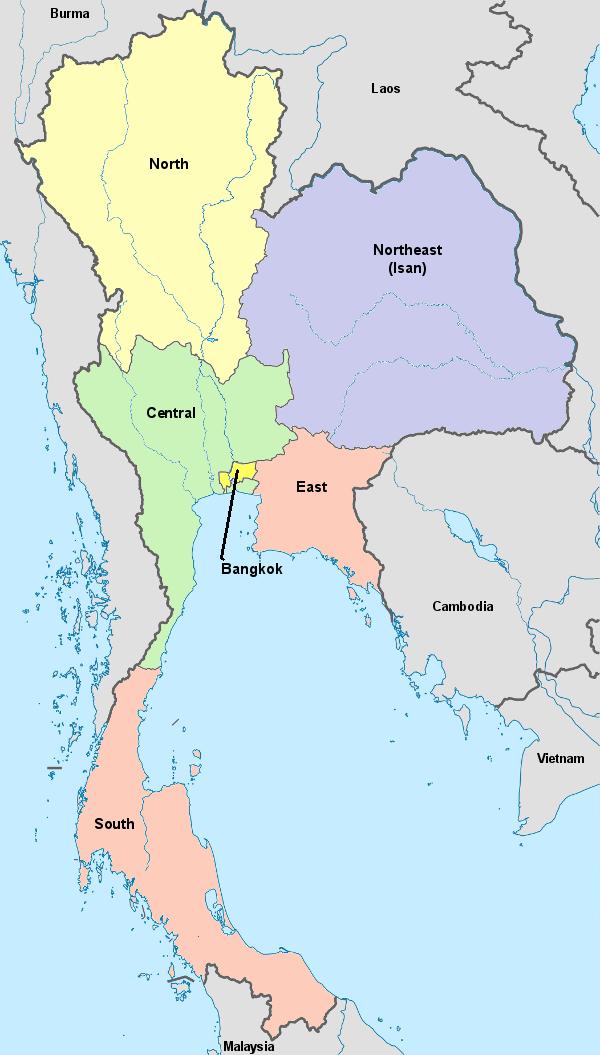 Thailand\'s Regions - Thailand For Visitors