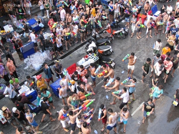 Songkran mayhem in Bangkok