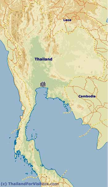 Physical Map of Thailand Thailand For Visitors