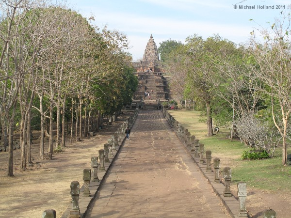 The temple of Phnom Rung, the largest Khmer temple in Thailand