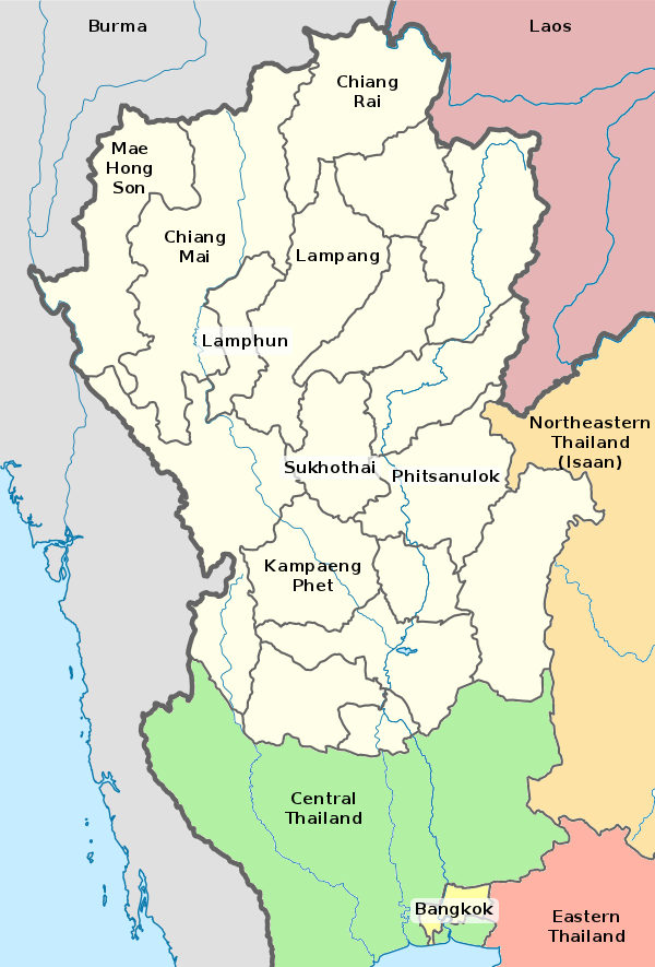 Lampang Thailand Map.Northern Thailand Thailand For Visitors